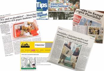 Medienberichte zur Initiative #ichbinsoplastikfrei