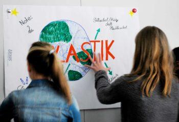 Schulworkshop #ichbinsoplastikfrei an der NMS Pregarten (Foto © #ichbinsoplastikfrei)