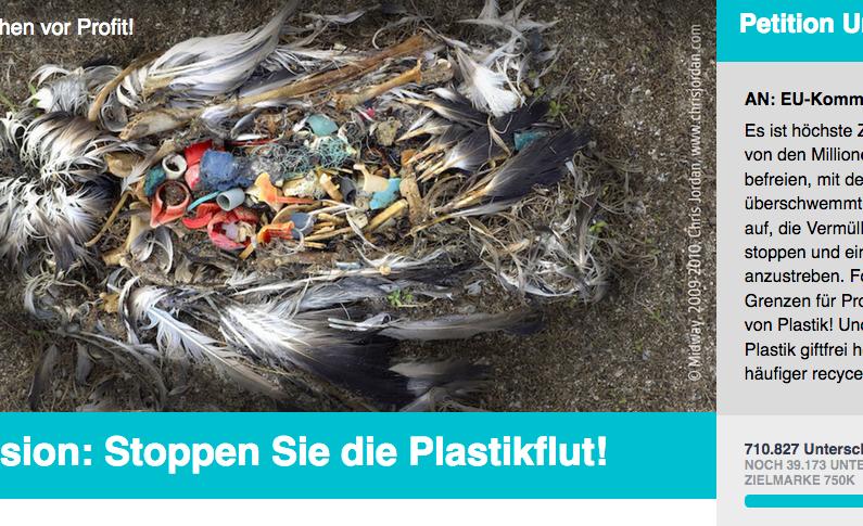 Petition: Strenge Grenzen für Produktion und Verbrauch von Plastik